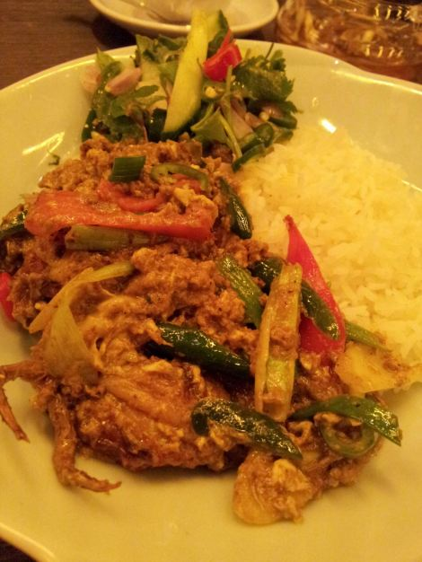 Curried stir-fried soft shell crab - not pulling any punches
