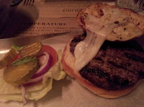 The 60z burger. Maybe I should have put the toppings under the burger?