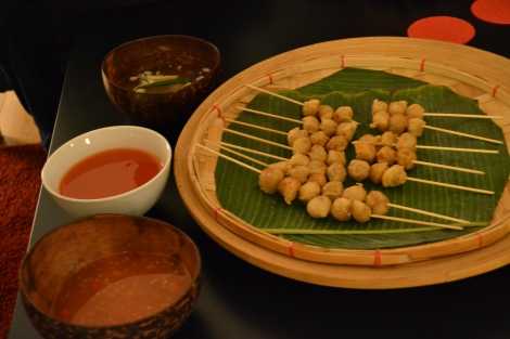 Ale-battered, deep-fried fish balls for all!