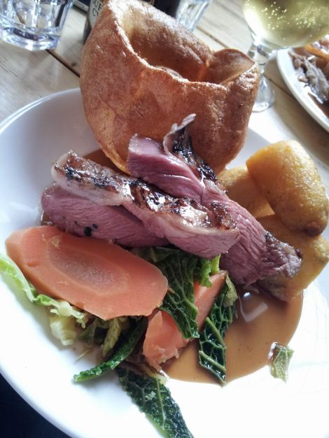 Roast lamb - meek and mild