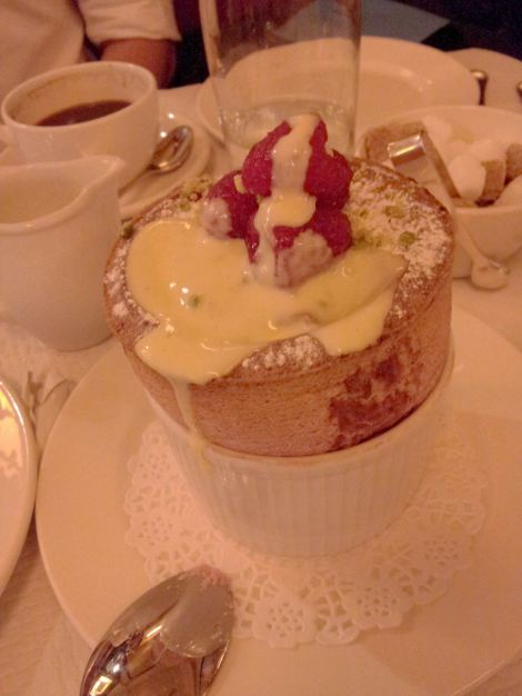 A towering yet delicate soufflé