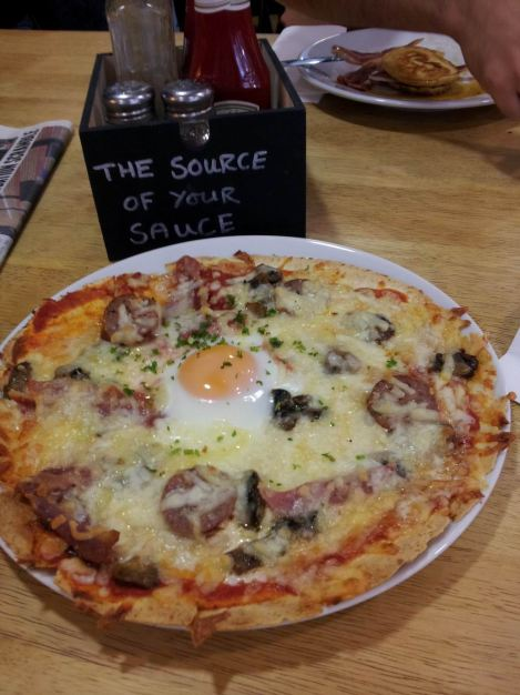 Breakfast on a pizza - genius idea