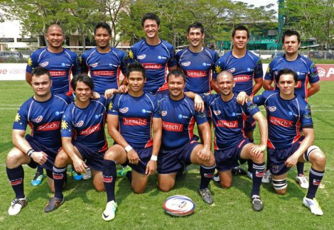 Proud members of the Philippines rugby sevens team in Thailand, November 2012 – who are the mestizos and who are the full-blood Pinoys?