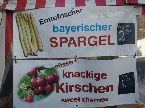 Finest Bavarian spargel on sale in the market