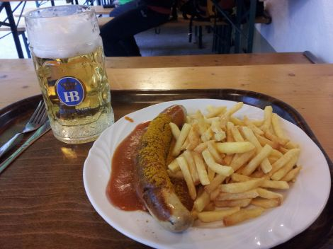 Currywurst at Neuschwanstein