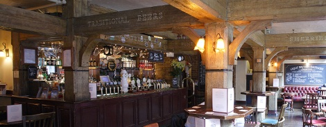 Traditional beers on offer, as the ceiling goes. Ha! Sourced from Mudlark website