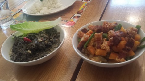 Laing and pakbet - so dainty!