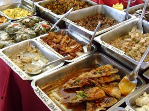 Food on display at Salcedo Market