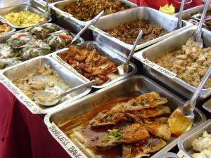 Food on display at Salcedo Market
